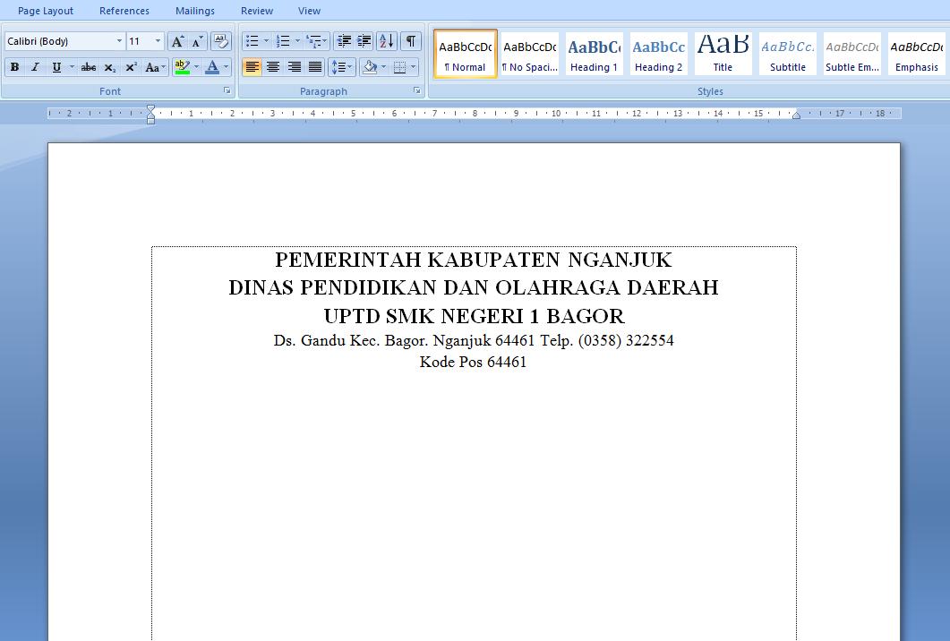 Cara Membuat Garis KOP Surat di Microsoft Word | Espada Blog