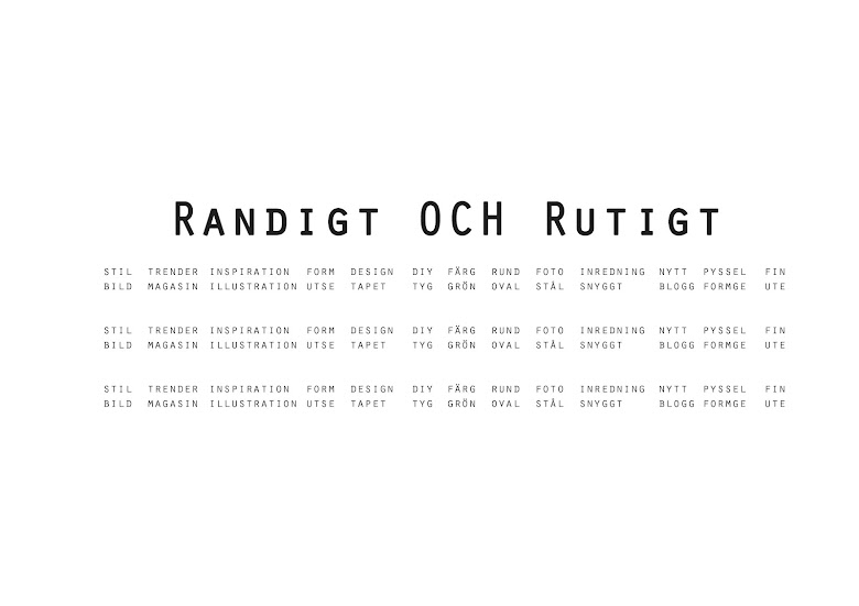 RANDIGT OCH RUTIGT