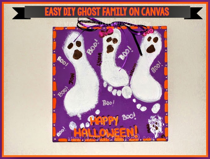 Easy {#DIY} Ghost Family On Canvas