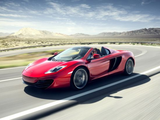 photo of red McLaren 12C Spider convertible supercar