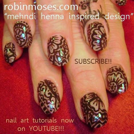Nail Art By Robin Moses Henna Henna Nail Art Smiling Strawberry