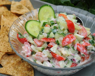 Creamy Cucumber-Tomato Salsa, one of 12 Best Recipes of 2013 from A Veggie Venture
