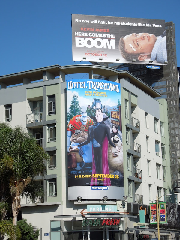 Hotel Transylvania movie billboard Hollywood