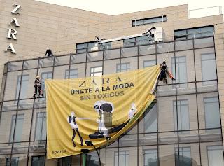 Greenpeace detox campaign at zara in Madrid