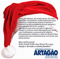 Deputado Artagão Jr.Deseja a todos um Feliz Natal e um Próspero Ano Novo