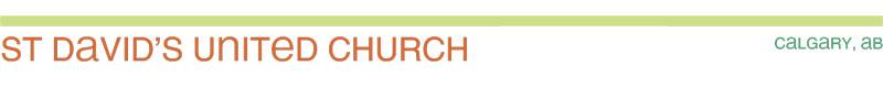 St David's UC Blog (Calgary)