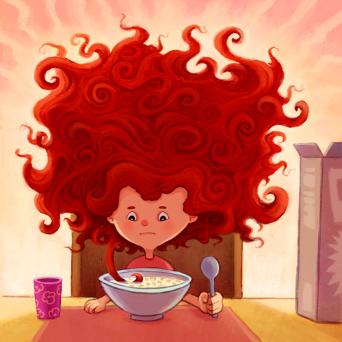 Cartoon Characters With Curly Hair : Picture book manuscript an illustrator s white knuckled