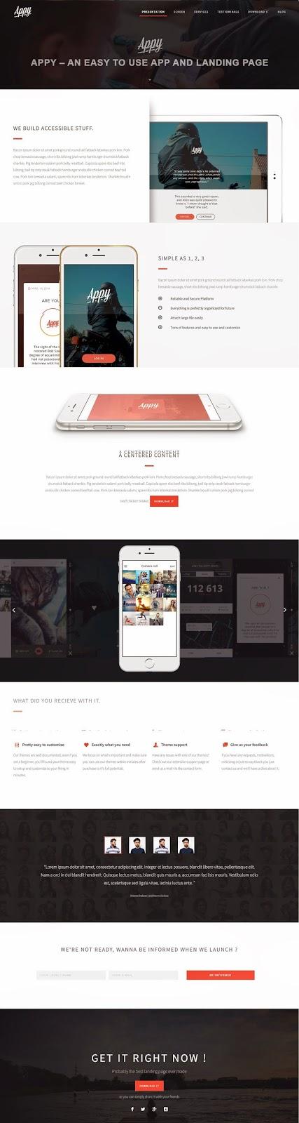 Premium App Landing Page Template 2015