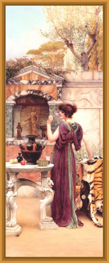 cuadro de John William Godward dama clásica