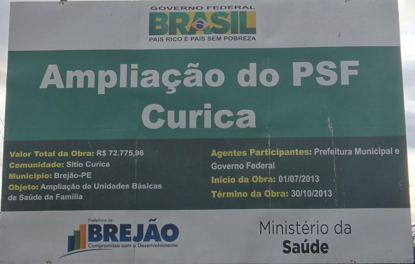 Ampliação do PSF da Curica