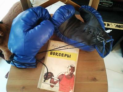 Боксерские перчатки из натуральной кожи