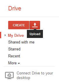 Google Drive Upload Button