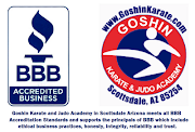 Goshin Karate and Judo Academy in Scottsdale Arizona meets all BBB .