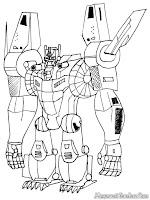 Gambar Optimus Prime Untuk Diwarnai