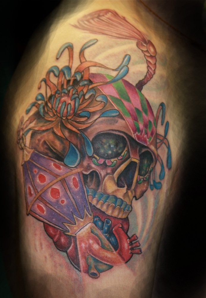 candy skull tattoo sugar