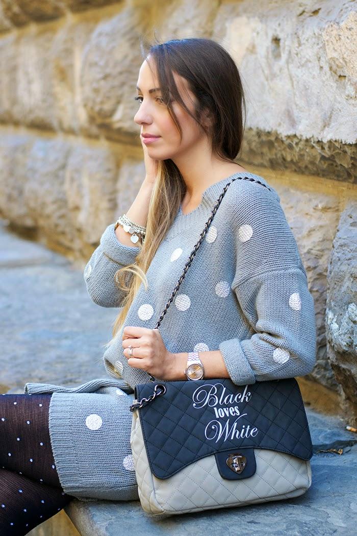 abito lana grigio