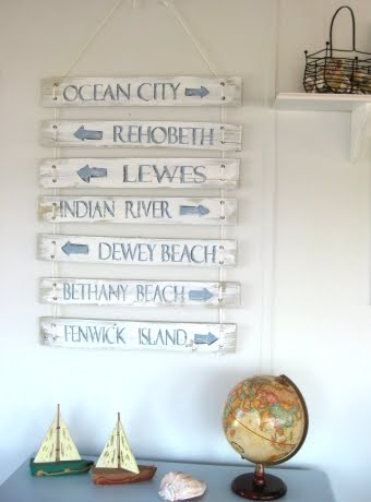 recycled wood signs painted