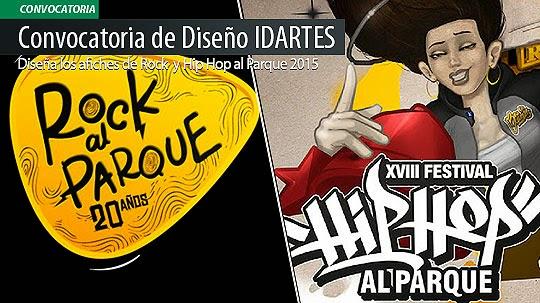 Diseña los Afiches de Rock al Parque y Hip Hop al Parque 2015