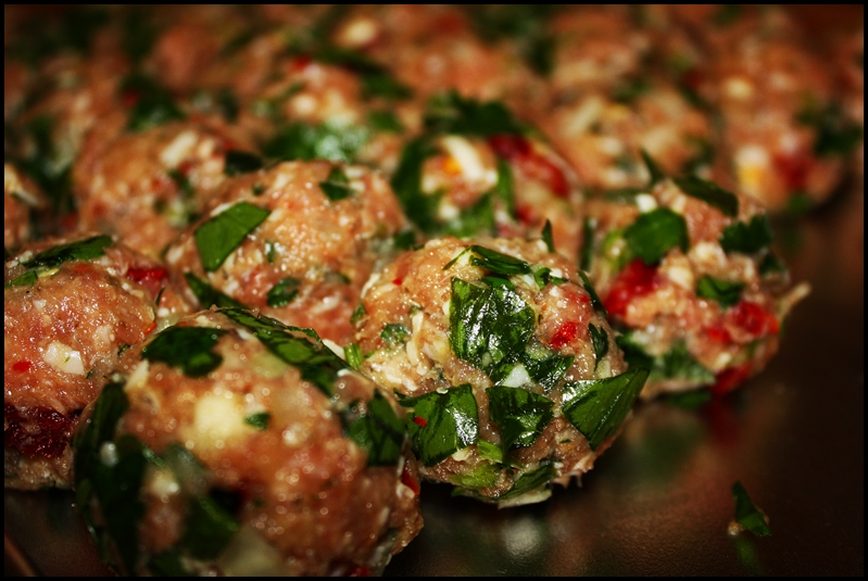 ... : Turkey and Sun-Dried Tomato Meatballs with Basil and Asiago