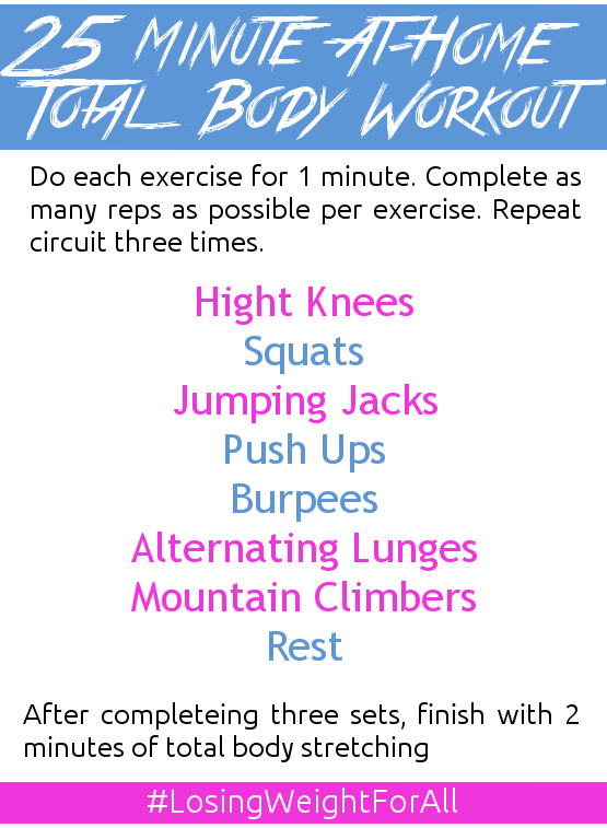 25 Minute At-Home Total Body Workout