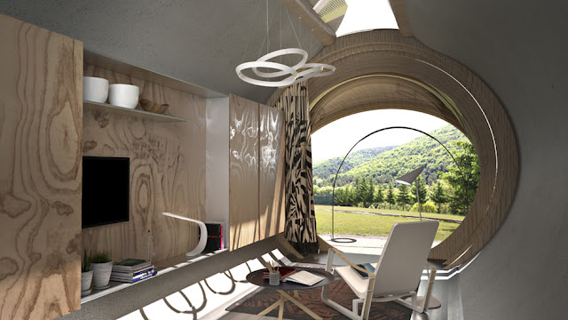 Removable Modular Drop Eco-hotel by In-Tent
