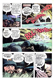 Weird War Tales v1 #6 dc bronze age comic book page art by Alex Toth