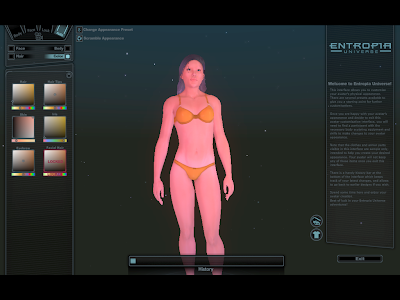 Entropia Universe - Character Customization Color
