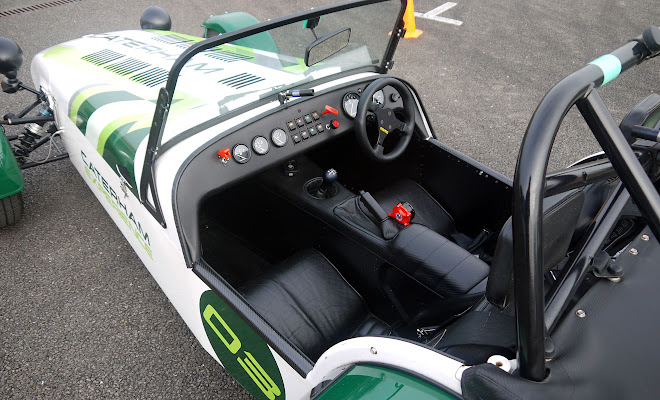 Caterham 7 cockpit