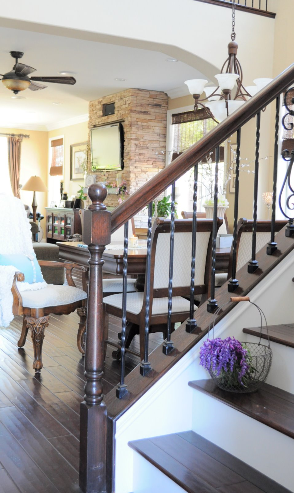My Foyer Staircase Reveal : Foyer reveal my uncommon slice of suburbia