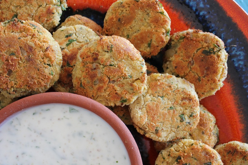 Chickpea, Parsley and Mint Falafel Burgers