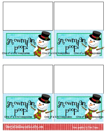 Ridiculous image intended for snowman poop printable bag topper