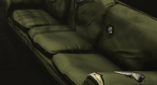 Green Paltry Couch details