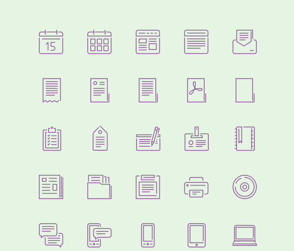 100 free stroke icons