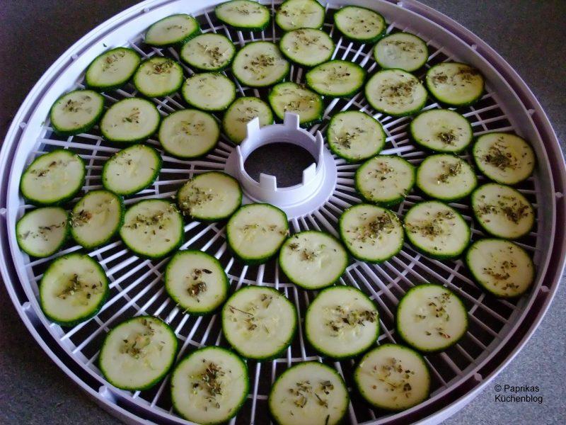 zucchini trocknen