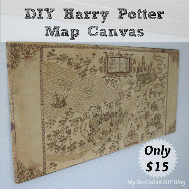 Harry Potter Book Cover Diy : My so called diy harry potter map canvas