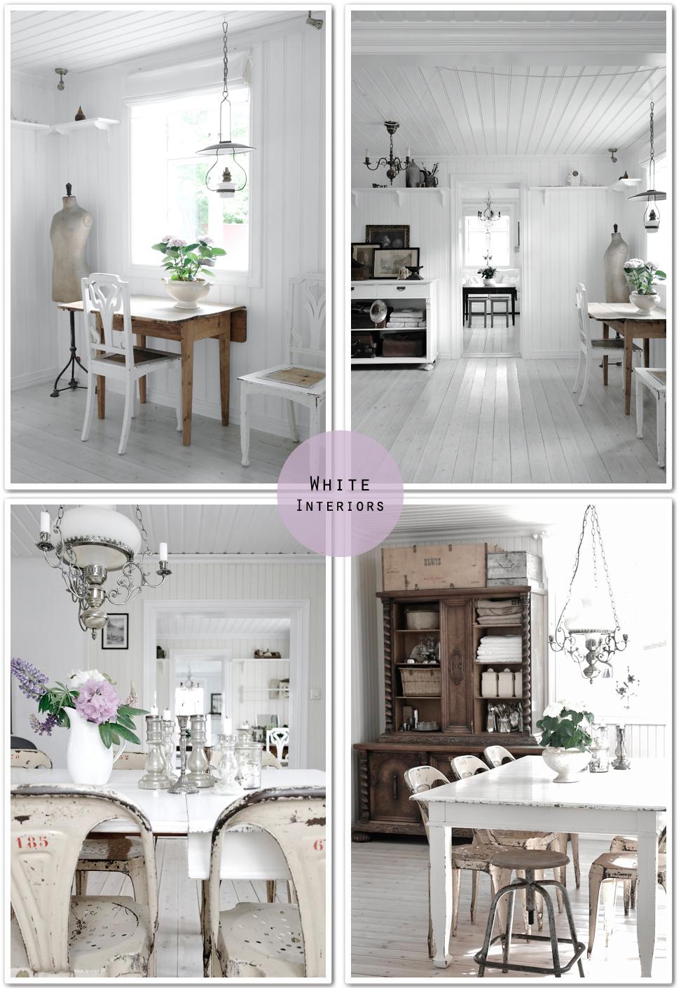 Stile nordico shabby chic interiors for Pezzi di arredamento