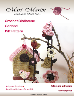 Crochet Birdhouse Garland PDF DIY