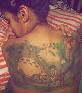 And Her Tattoo Of Her Favorite Childhood Cartoon &Quot;my Neighbor Totoro