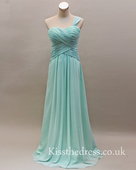 blue long bridesmaid dress