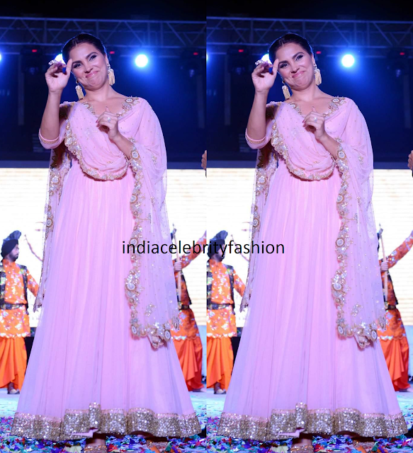 Lara Dutta in Anarkali at Singh is Bling Promotions