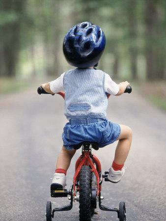 cara bapa ajar anak tunggang basikal
