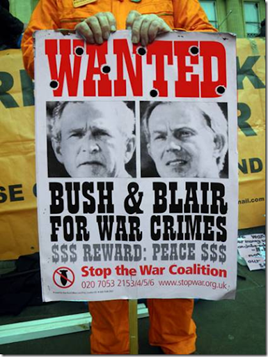 Wanted poster - Bush & Blair