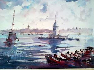 Ressam Jale Apaydın-Suluboya