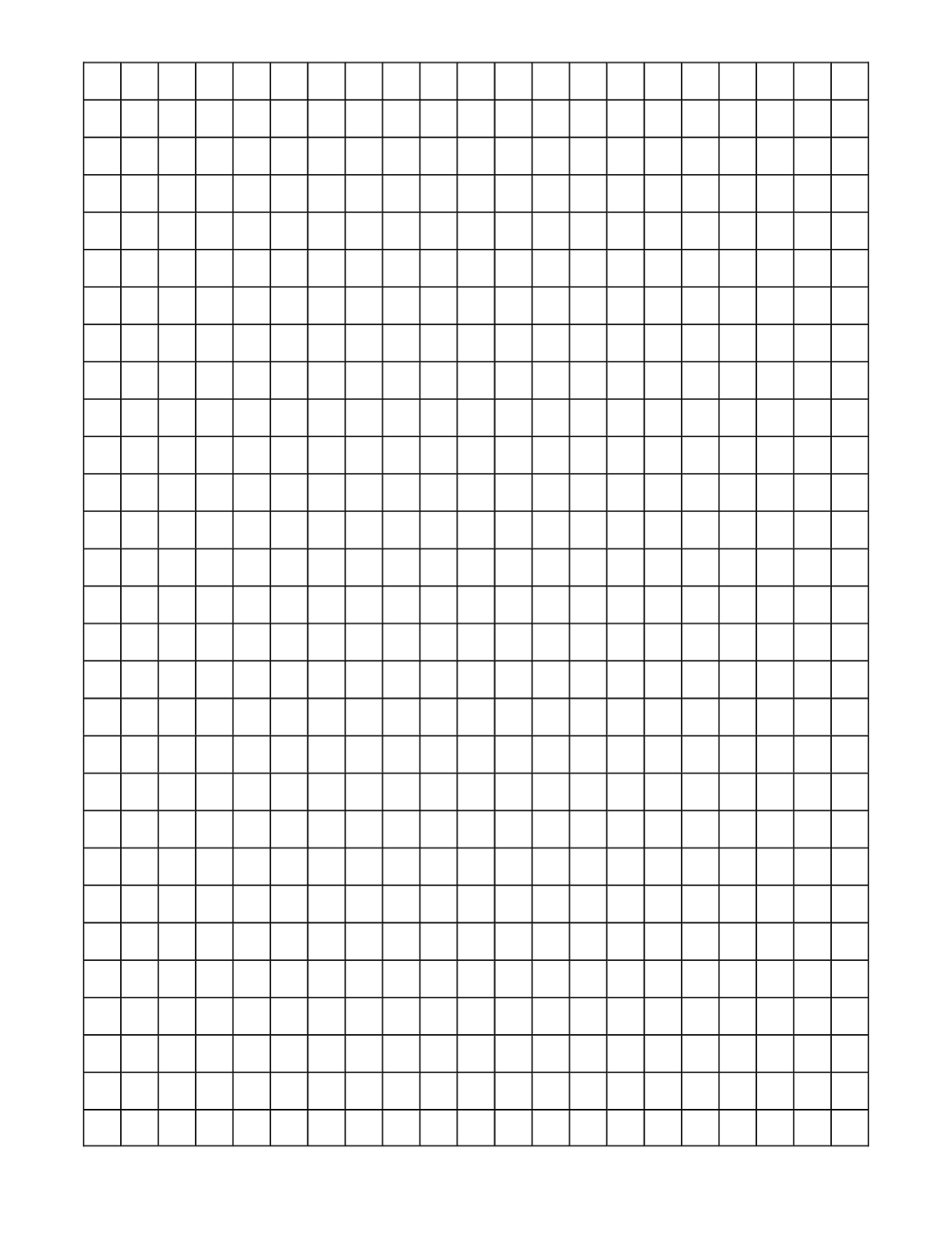 1 Cm Graph Paper With Black Lines A4 Size A Math Worksheet Worksheet