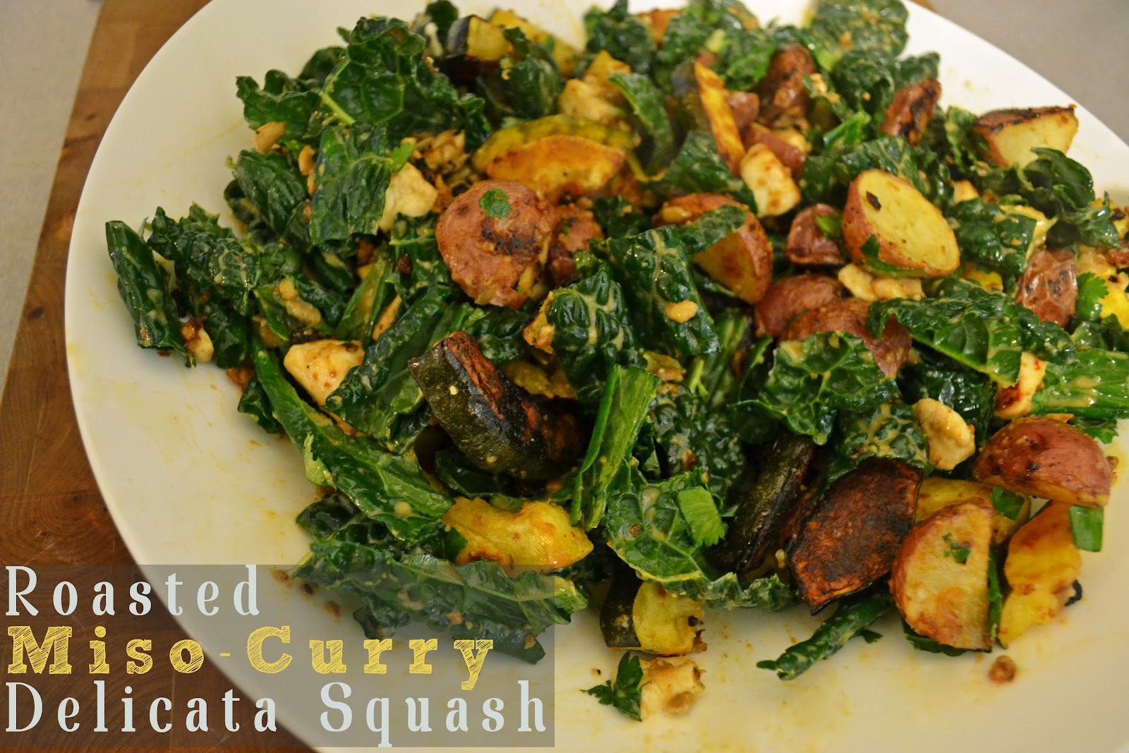 Fork and Vine: Roasted Miso-Curry Delicata Squash