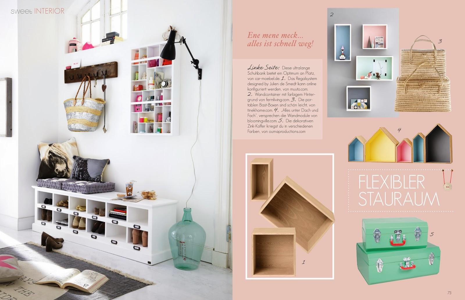 Ein Blick in das neue sweet living Magazin