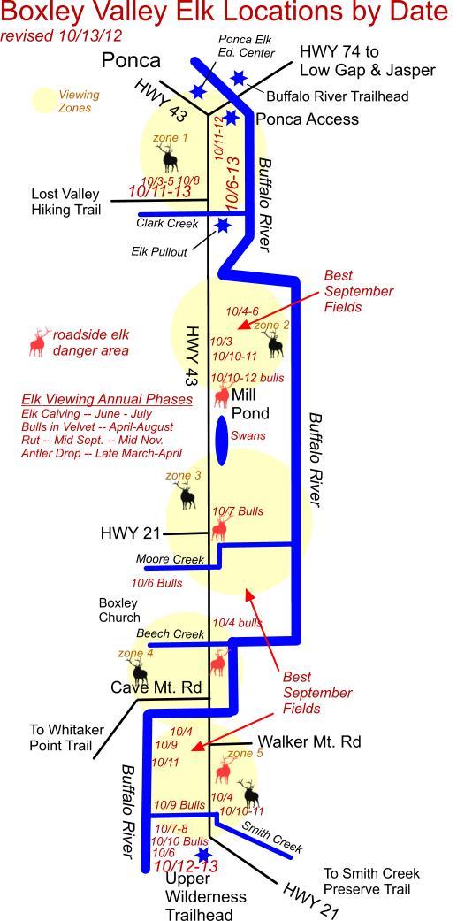 October 13, 2012 Elk Herd Locations