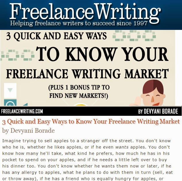 Verbolatry - Devyani Borade - 3 Quick and easy ways to know your freelance writing market - Freelance Writing