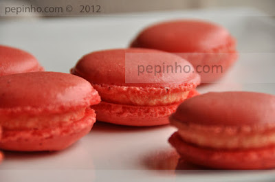 macarons de sirope de rosas