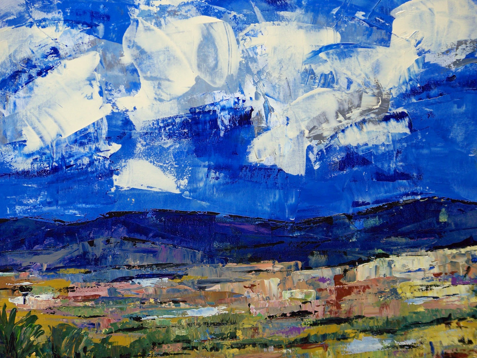 Daily Painters Of Colorado Contemporary Abstract Landscape Oil